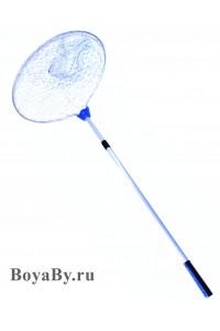 Подсак круглый плетеный (голубой) большой