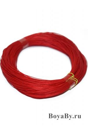 Нить поводковая красная в мотке 2х3 (5шт х 20м)