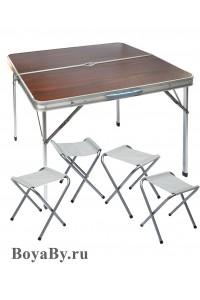 Стол, 4 стула (90x90)