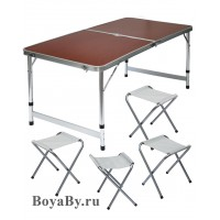 Стол, 4 стула (60x120)