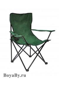 Кресло в чехле однотонное зеленое